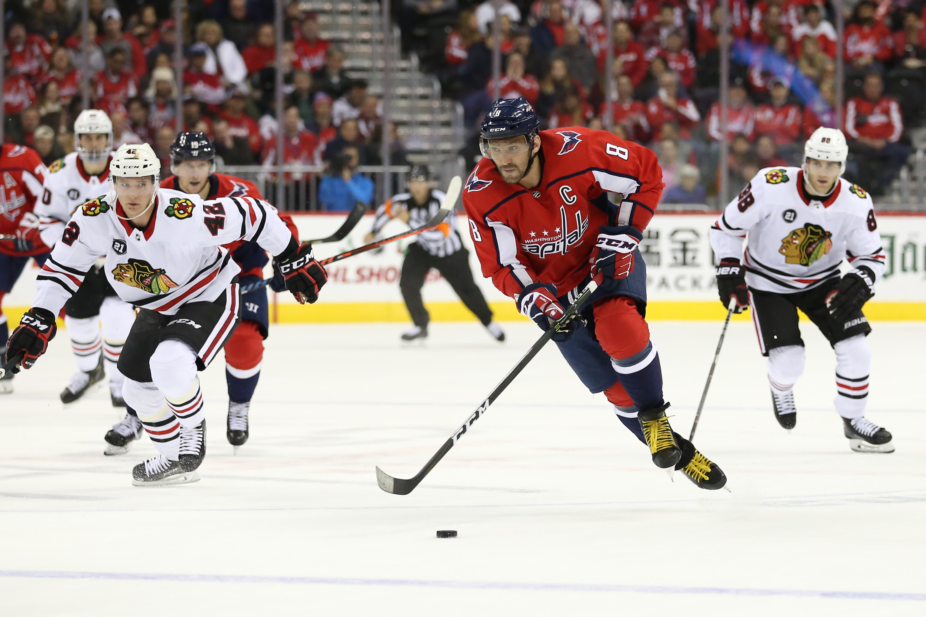 Capitals fall to Blackhawks in NHL 20 simulation